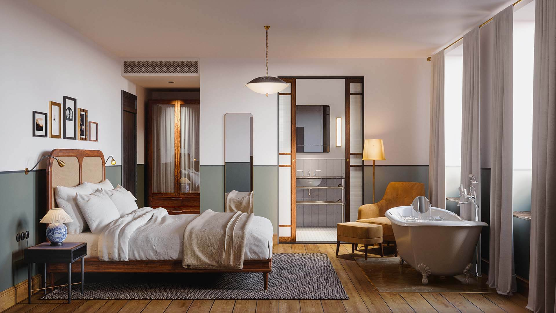 3D-Vizual | 3D Visualisering | HOTEL & RESTAURANT 1.1 - SANDERS HOTEL