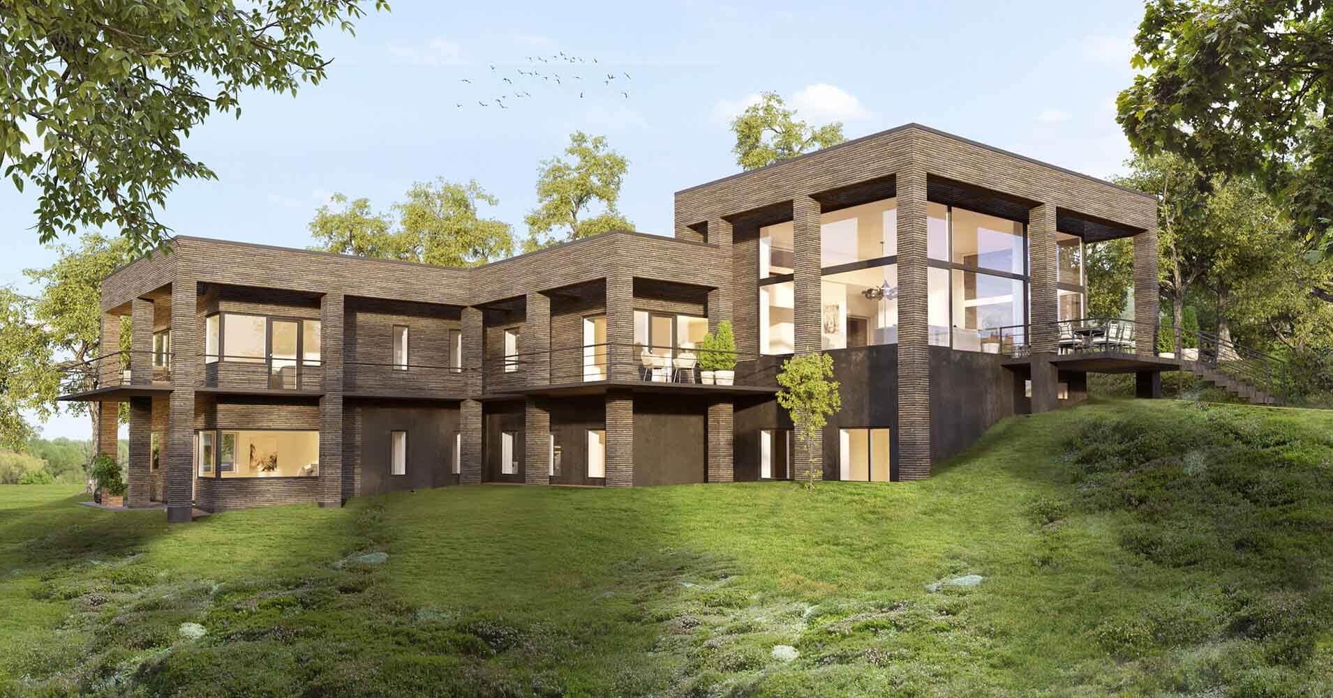 3D-Vizual | 3D Visualisering | Facade | Arkitekt 11.0 - Claus Francke Arkitekter Hus
