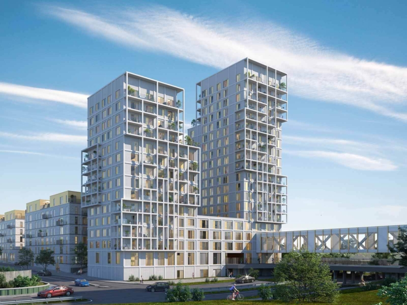3D-Vizual | 3D Visualisering | Facade | Projektsalg 9.1 - GEFION GROUP - RØDOVRE PORT