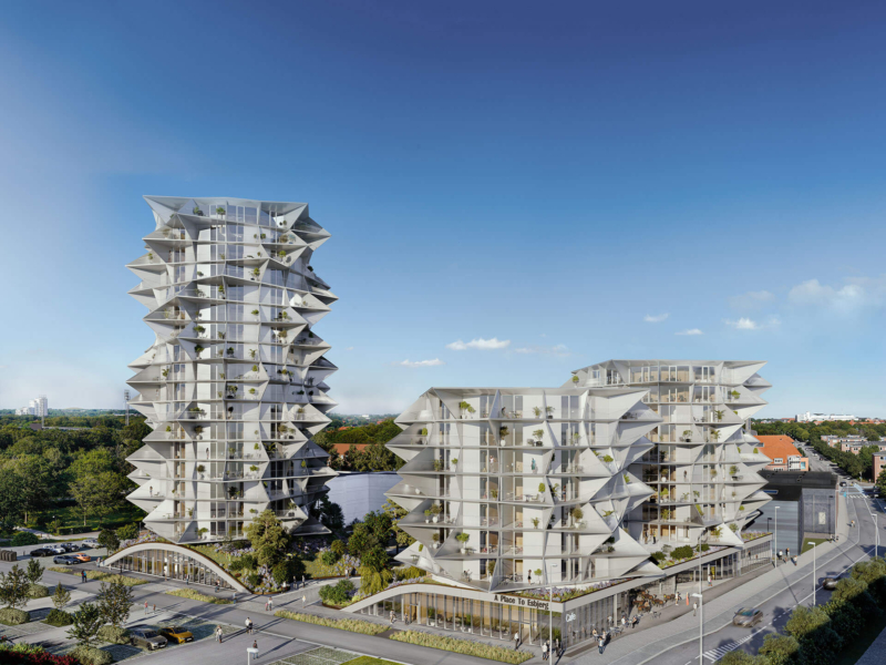 3D-Vizual | 3D Visualisering | Lejlighedskompleks | Projektsalg - A PLACE TO (BIG) Esbjerg Towers